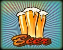 Insegne sull'argomento con birra Immagine Stock