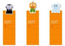 Insegne sveglie del partito di Halloween Fotografia Stock