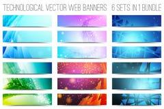 Insegne tecnologiche di web di vettore Immagine Stock Libera da Diritti