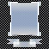 Insegne trasparenti isolate Illustrazione di vettore illustrazione di stock