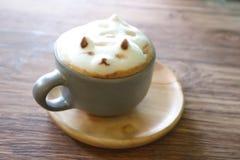 Insegua l'arte del latte della schiuma o il caffè caldo o l'arte del caffè 3d Fotografia Stock Libera da Diritti