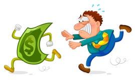 Inseguimento dei soldi Immagine Stock