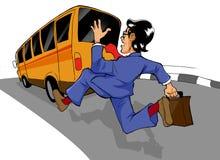 Inseguimento del bus illustrazione di stock