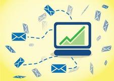 Inseguimento del email di comportamento Fotografie Stock