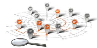 Inseguimento del IP Fotografia Stock