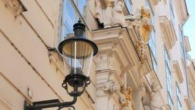 Inseguimento del palazzo sparato Vienna video d archivio