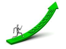 Inseguimento del successo Immagine Stock