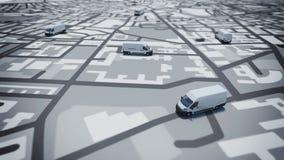 Inseguimento di GPS illustrazione di stock