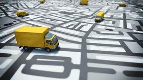 Inseguimento di GPS illustrazione vettoriale