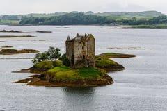 Inseguitore del castello, Scozia, Regno Unito Fotografie Stock Libere da Diritti