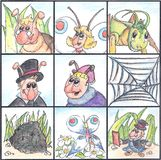 insektów dzieciaki żyją łamigłówkę Obrazy Royalty Free