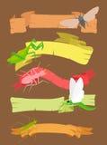 Insektów sztandary fotografia stock
