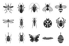 Insekt ikony ilustracji