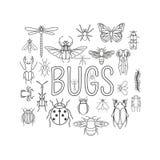 Insekt ikony mieszkania styl 24 kawałka w secie Kontur wersja ilustracji