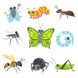 Insekt kreskówki wizerunki Inkasowi ilustracja wektor