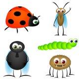 Insekt-lustige Karikaturen Lizenzfreies Stockfoto
