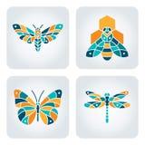 Insekt mozaiki ikony Fotografia Royalty Free