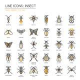Insekt, perfekte Ikone des Pixels Stockfotos