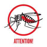 Insekta komara Aedes aegypti ilustracja wektor