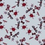 Insekten-Hintergrund-Muster Lizenzfreie Stockbilder
