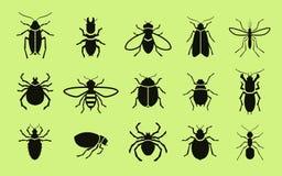 Insekten-Ikonen Schädlingsbekämpfung Auch im corel abgehobenen Betrag vektor abbildung