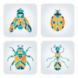 Insektenmosaikikonen Lizenzfreie Stockfotos