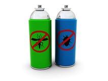 Insektenvertilgungsmittelsprays Lizenzfreies Stockbild