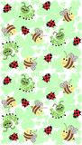 Insektmuster nahtlos Stockfoto