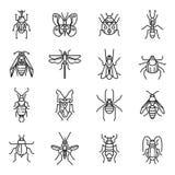 Insekty cienieją linię royalty ilustracja