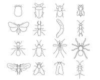 Insekty i zarazy eksterminacja ilustracji