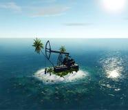 Insel-Öl-Pumpe Stockfotos