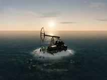 Insel-Öl-Pumpe Stockbilder