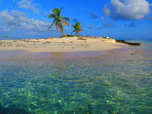 Insel bei San Blas, Panama lizenzfreie stockbilder