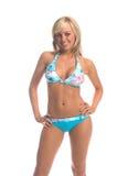 Insel-Bikini-Blondine Lizenzfreie Stockbilder