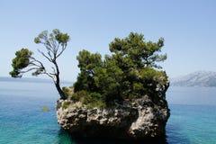 Insel in Brela Stockfoto