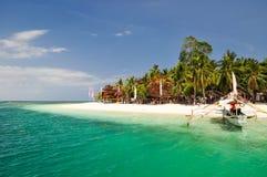 Insel der Betäubungs-Pandan - Honda bellen, Palawan, Philippinen lizenzfreies stockbild