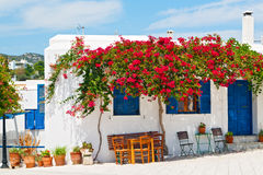 Insel der Griechenland-antorini Europa-Weißfarbe Stockfotografie