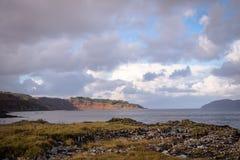 Insel der Mull Küstenansicht stockbild
