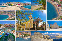 Insel der PAG-Sommercollage stockfoto