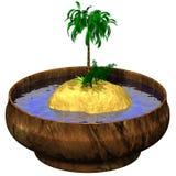 Insel in der Schüssel Stockfoto