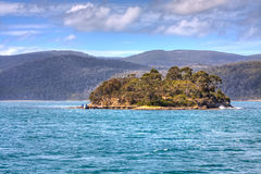 Insel der Toten, Port Arthur, Tasmanien lizenzfreies stockbild