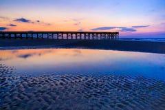Insel des Palmen-Piers Stockfotografie