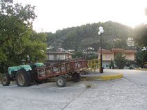 Insel Evia in Griechenland stockfotos