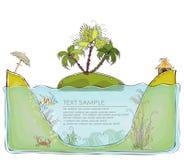 Insel für glückliche Sammlung der perfekten Flitterwochen Welt lizenzfreie abbildung