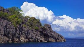 Insel-Felsformation stockfoto
