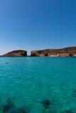 Insel gesehen vom Meer Lizenzfreies Stockbild