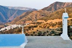 Insel Griechenlands Karapathos Aperi-Dorf Stockfoto
