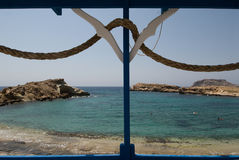Insel Griechenlands Karapathos Lefkos-Dorf Stockbilder