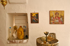 Insel Griechenlands Karapathos Lefkos-Dorf Lizenzfreie Stockbilder