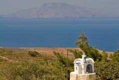 Insel Griechenlands Karapathos Menetes-Dorf Lizenzfreies Stockbild